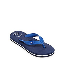 bluezoo - 'Boys' navy flip flops