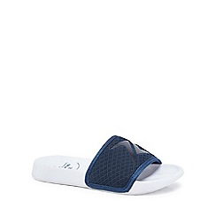 bluezoo - 'Boys' navy knitted sliders
