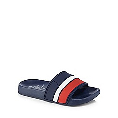 J by Jasper Conran - 'Boys' navy stripe sliders