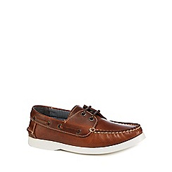 J by Jasper Conran - 'Boys' brown leather boat shoes