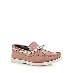 J by Jasper Conran - 'Boys' pink suede boat shoes