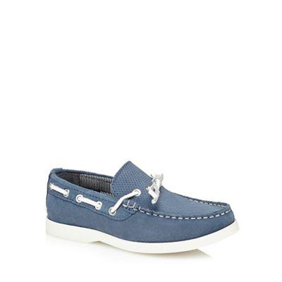 J by Jasper Conran - 'Boys' blue suede boat shoes