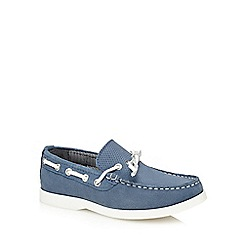 J by Jasper Conran - 'Boys' blue suede boat shoes