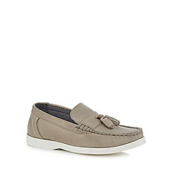 J by Jasper Conran - 'Boys' grey leather loafers