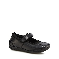 Hush Puppies - Girls' black leather 'Cindy' Mary Jane school shoes