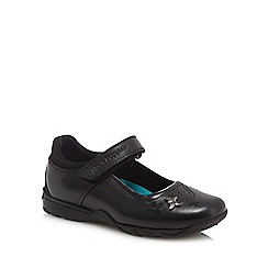 Hush Puppies - Girls' black leather 'Clare' Mary Jane school shoes