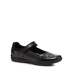 Hush Puppies - Girls' black leather 'Clare' school shoes