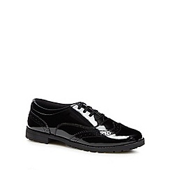 Hush Puppies - Girls' black leather 'Eadie' brogues