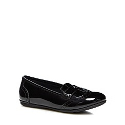 Hush Puppies - Girls' black leather 'Esme' loafers
