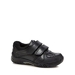 Hush Puppies - Boys' black leather 'Jezza' trainers