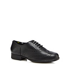 Hush Puppies - Girls' black leather 'Kada' brogues