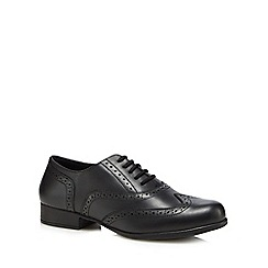 Hush Puppies - Boys' black leather 'Kada' brogues