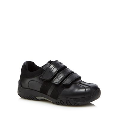 Hush Puppies - Boys' black leather 'Seb 3' trainers
