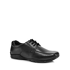 Hush Puppies - Boys' black leather 'Vincente' school shoes