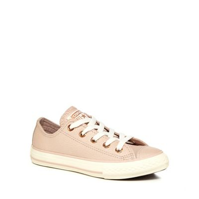 Converse - Girls' beige leather 'Chuck Taylor' trainers