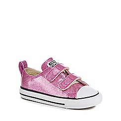 Converse - Girls  pink glitter  Chuck Taylor All Star  trainers 7a5cb8be7270