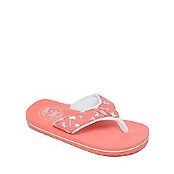 Mantaray - Girls' pink 'Swiss' flip flops