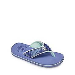 Animal - Girls' lilac 'Swiss' flip flops