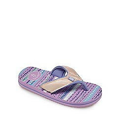 Animal - Girls' light pink printed flip flops