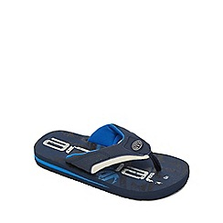 Animal - Boys' navy 'Jekyl' flip flops