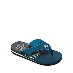 Animal - Boys' dark turquoise 'Jekyl' flip flops