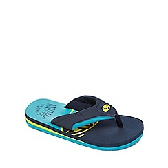 Animal - Boys' Blue 'Jekyl' flip flops