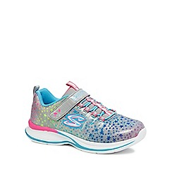 Skechers - Girls' silver 'Jumpin Jams' trainers