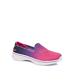 Skechers - Girls' pink 'Go Walk 4' slip on trainers