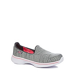 Skechers - Girls' grey 'Go Walk 4' slip on trainers