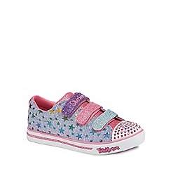 Skechers - Girls' light blue star print 'Twinkle toes' trainers