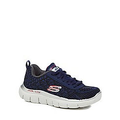 Skechers - Boys' navy 'Flex Advantage' trainers