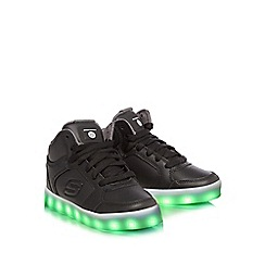Skechers - Boys' black light up high tops