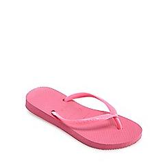 Havaianas - 'Girls' pink flip flops