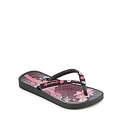 Ipanema - 'Girls' black flip flops
