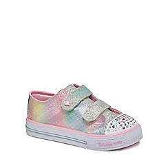 Skechers - Girls' multi-coloured glitter 'Twinkle toes' trainers