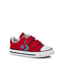 Converse - Boys' red canvas 'Star Player' trainers