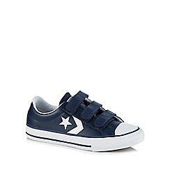 Converse - Kids' navy leather 'Star Player' trainers