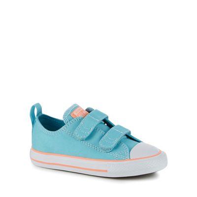 Converse - Girls' aqua canvas trainers