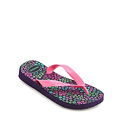 Havaianas - Girls' pink 'Flores' flip flops