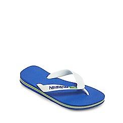 Havaianas - 'Kids' blue Brazil logo flip flops