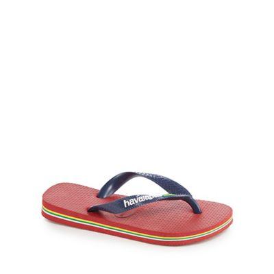 b2af89ec6811 Havaianas - Kids  red Brazil logo flip flops