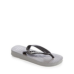 Havaianas - 'Boys' dark grey gamer flip flops