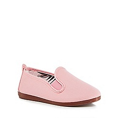 Flossy - Girls' pink 'Pamplona' slip-on shoes
