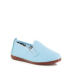 Flossy - Girls' light blue 'Pamplona' slip-on shoes