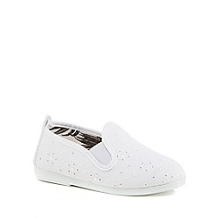 Flossy - Girls' white 'Anica' slip-on shoes