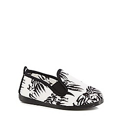Flossy - Kids' white 'Palmeras' slip-on shoes