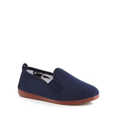 Flossy - Boys' navy 'Pamplona' slip-on shoes