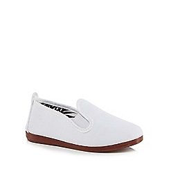 Flossy - Boys' white 'Pamplona' slip-on shoes