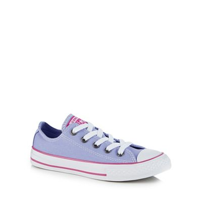Converse - Girls' lilac canvas trainers