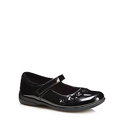 Debenhams - 'Girls' black patent Mary Jane school shoes
